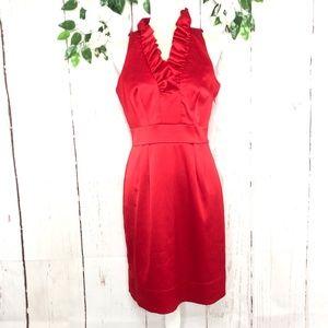 JUST TAYLOR SLEEVELESS SATIN RED DRESS SIZ…